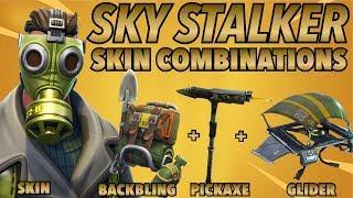 SKY STALKER SKIN BEST BACKBLING + SKIN COMBOS! (Legendary skin) (Fortnite Battle Royale) (2018)
