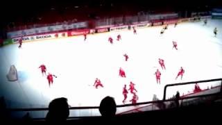 Hockey vm Sverige-ryssland 2012 uppvärmning