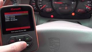 Porsche iCarsoft i960 Diagnose Engine Warning Light & lumpy Running Lack Of Power