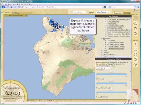 County of Hawaii Agricultural Application: Map Features