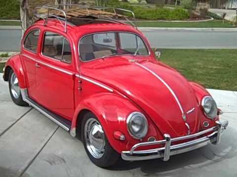 VW bug 1955 Oval Ragtop - YouTube