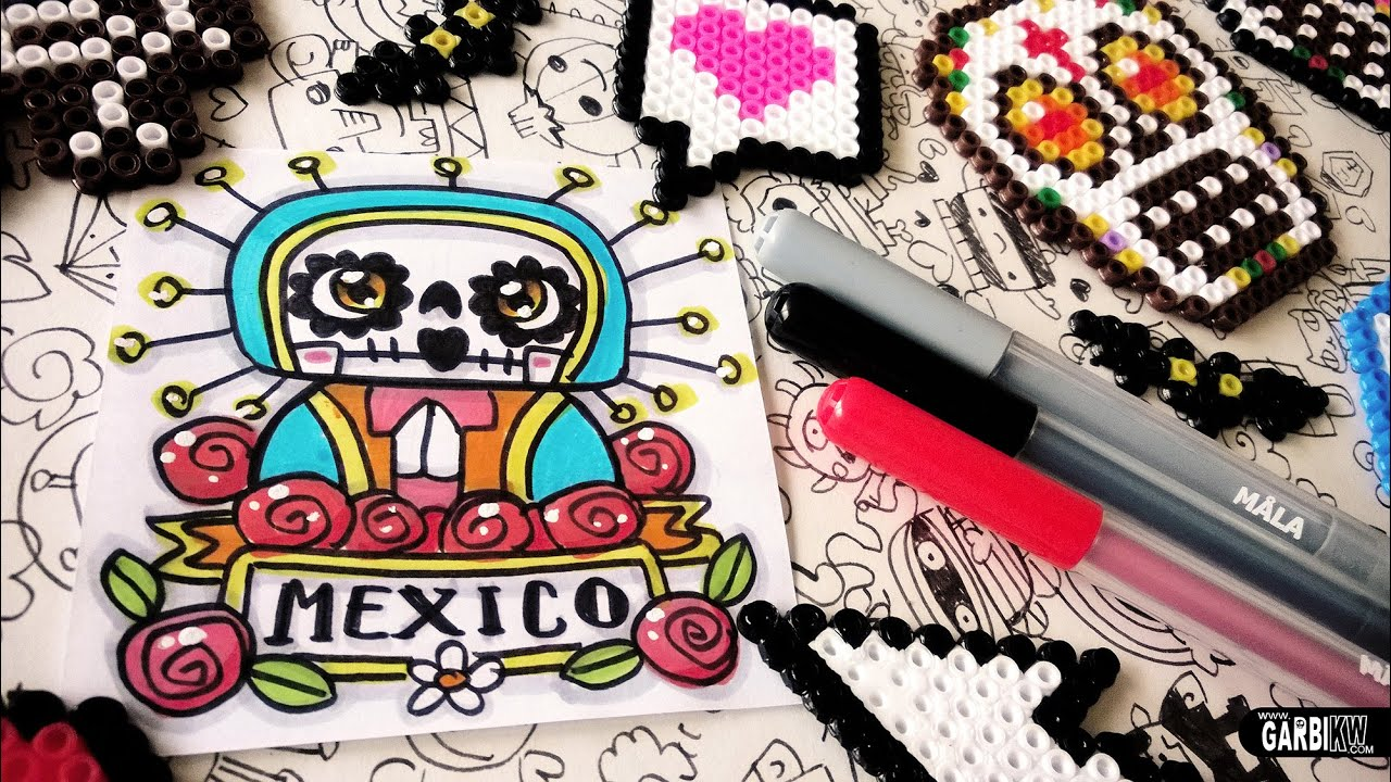 Day of the Dead Drawings - How To Draw Cute Holy Death by Garbi KW ...