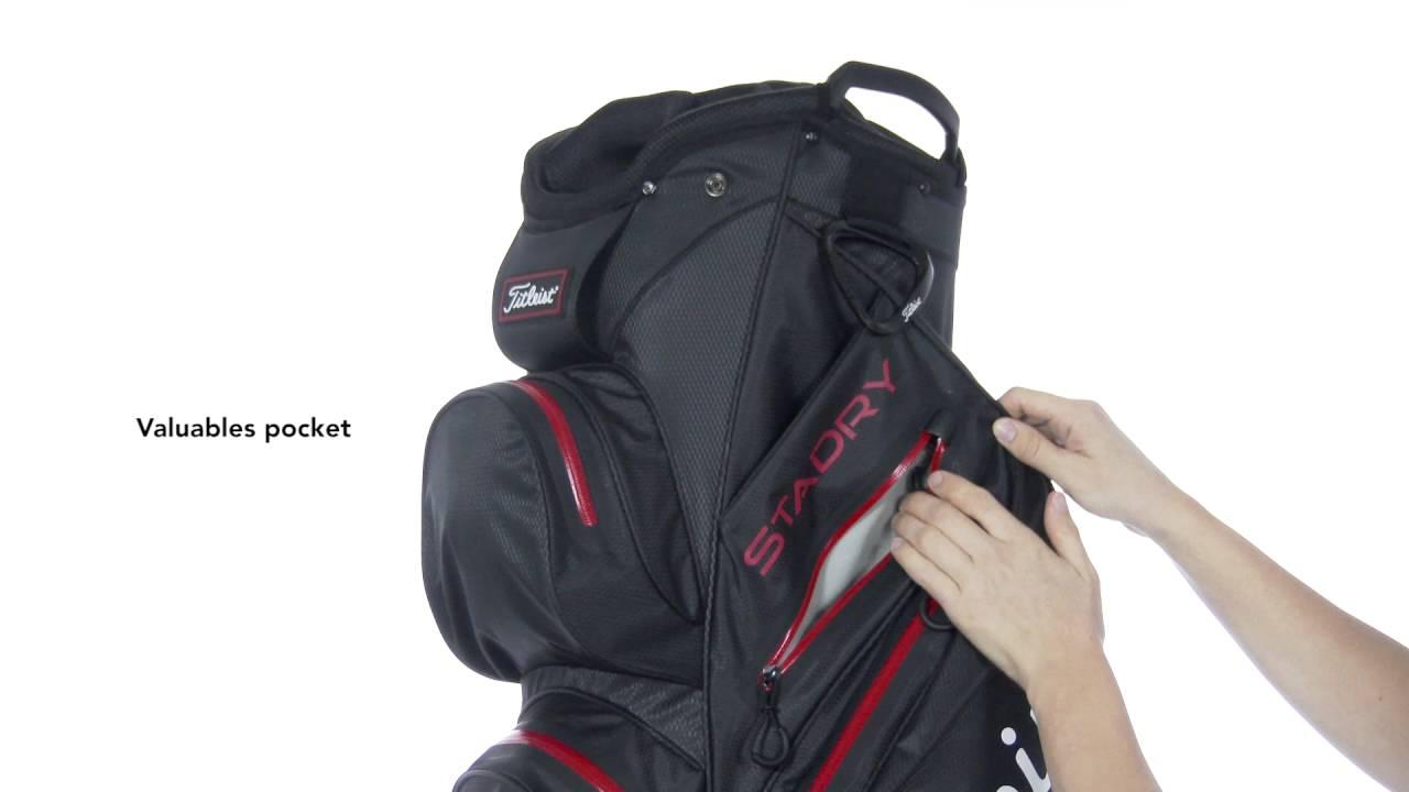 3244b51623 Titleist StaDry Waterproof Cart Bag - YouTube