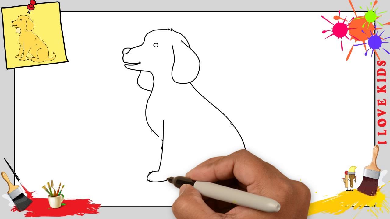 Hund Zeichnen 3 Schritt Für Schritt Für Anfänger Kinder Zeichnen Lernen Tutorial