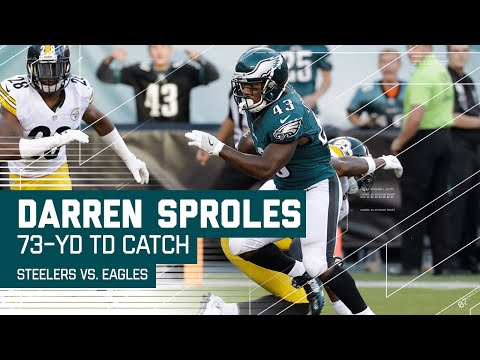 Carson Wentz Hits Darren Sproles for 73-Yard TD!   Steelers vs. Eagles   NFL