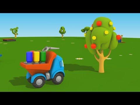 Cartoni animati per bambini camioncino leo junior coloriamo l