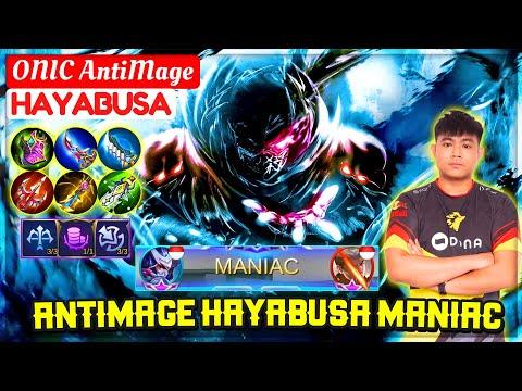 ANTIMAGE HAYABUSA MANIAC [ Top Global Hayabusa ] ONIC AntiMage - Mobile Legends