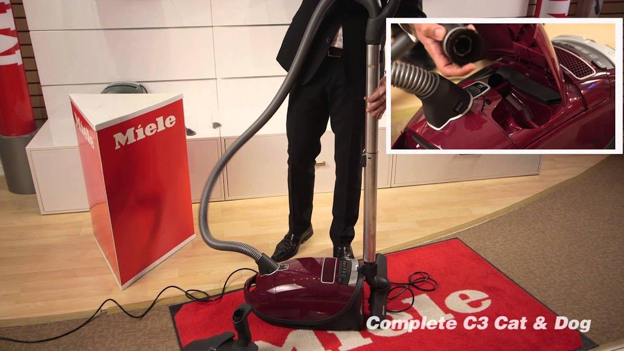 4a3e69394a Miele C3 Cat and dog Vacuum Demo. - YouTube