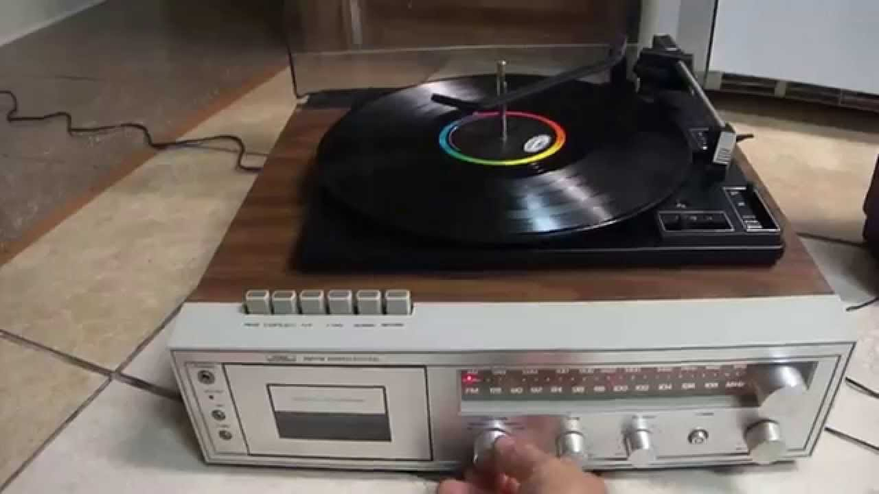 Sears Turntable Am Fm Receiver Cassette Player Record