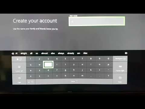 How to make a new account in x box one