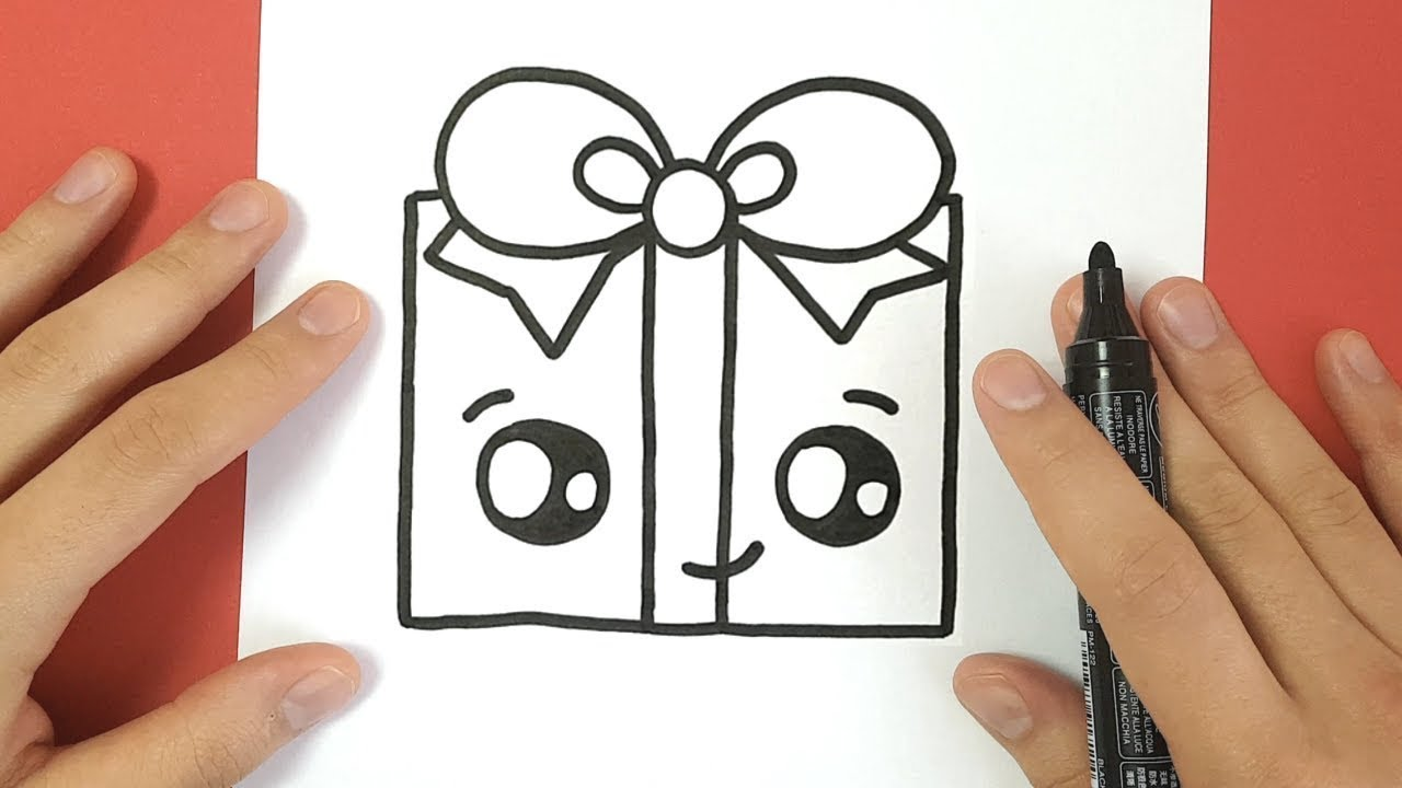 HOW TO DRAW A CHRISTMAS PRESENT CUTE AND EASY - YouTube