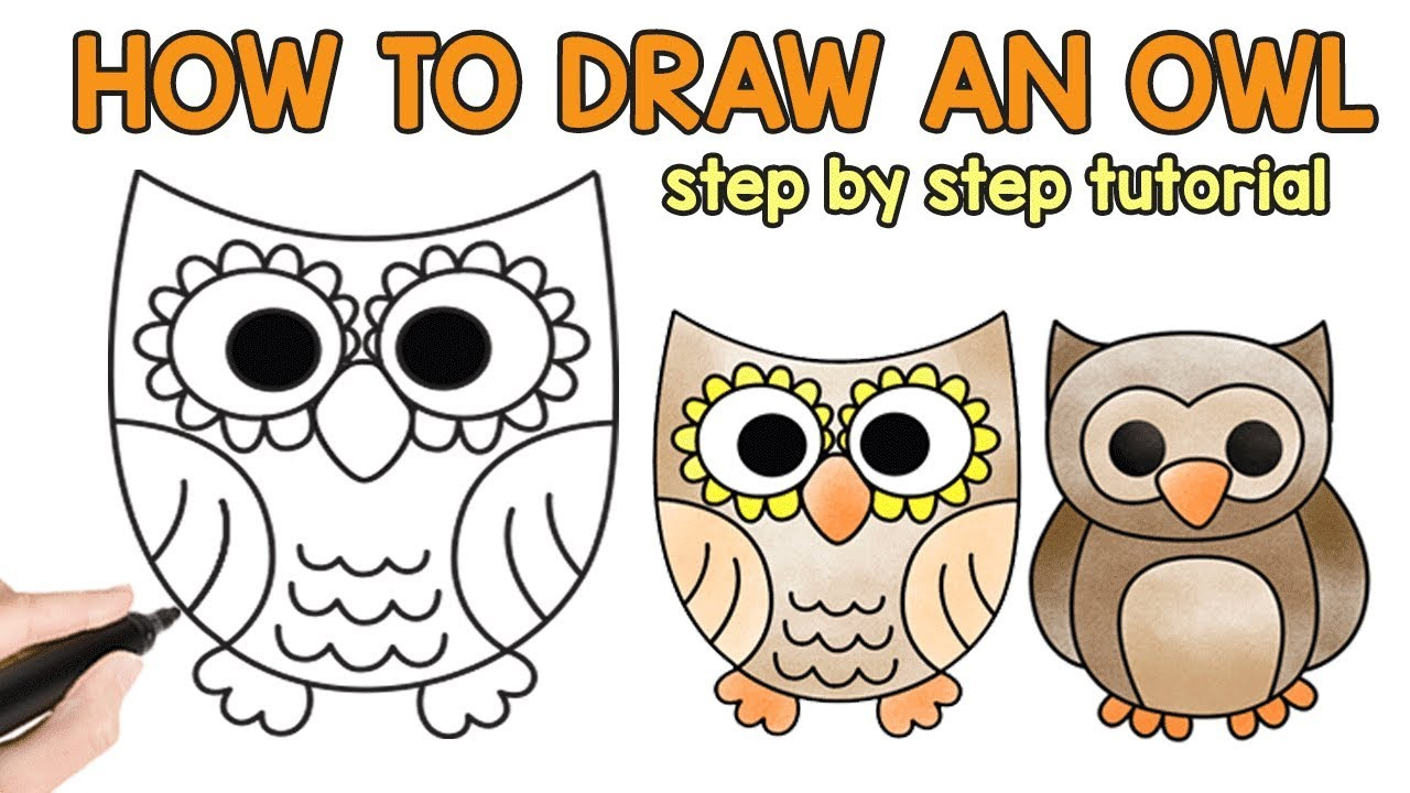 How to Draw an Owl   simple drawing tutorial