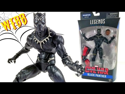 MARVEL LEGENDS Captain America Civil War BLACK PANTHER Action Figure Review
