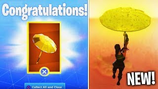 "How to Unlock FREE ""GOLDEN UMBRELLA"" in Fortnite (Golden Umbrella Glider)"