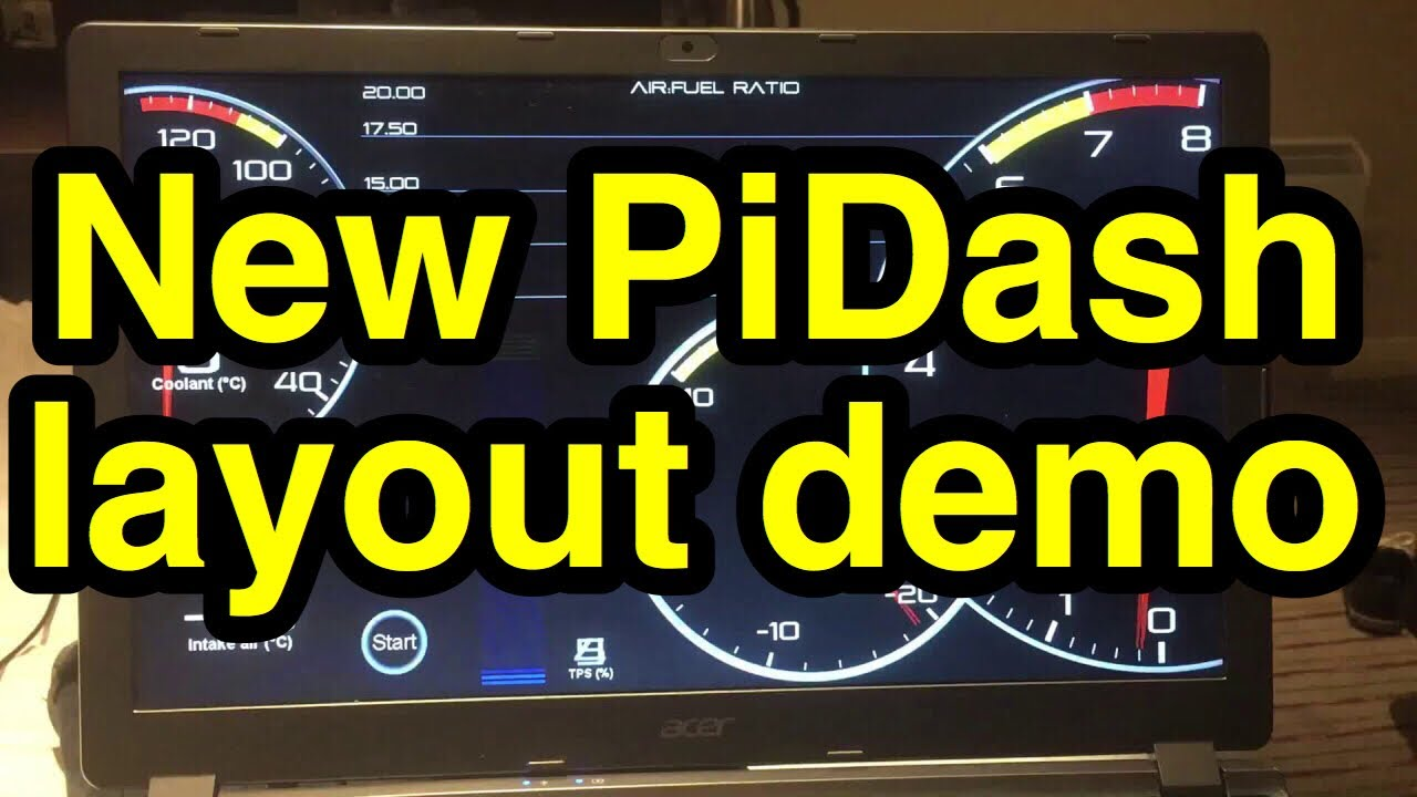PiDash - Tunerstudio Dashboard Design for in Car Dash using Raspberry Pi  and Megasquirt