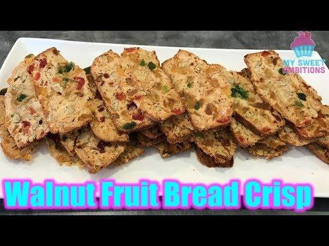 Walnut Fruit Bread Crisp - mysweetambitions
