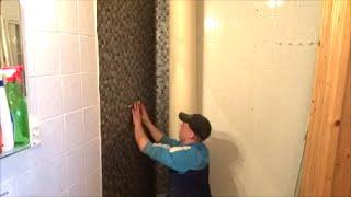 Wand in der Dusche neu verkleben Teil 3 -die Zeit der Fliesen ist vorbei