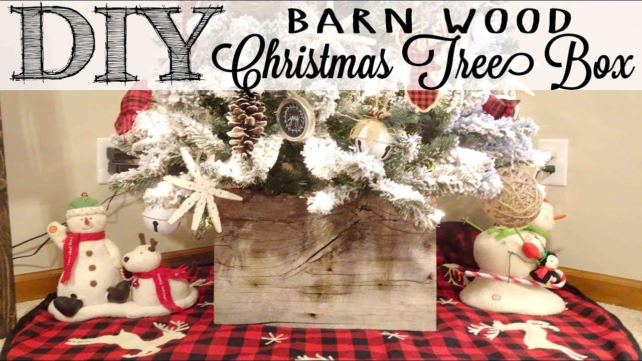 Diy Barn Wood Christmas Tree Box