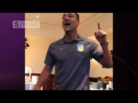 John Terry sings 'stand by me' at Aston Villa initiation