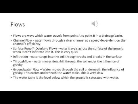 AS Geography Revision - Drainage Basin Inputs, Outputs, Stores, and Flows