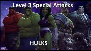 All Hulk Level 3 Special Attacks MCOC