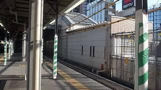 2019 工事のひばりが丘駅下りホームと電車の到着 191102