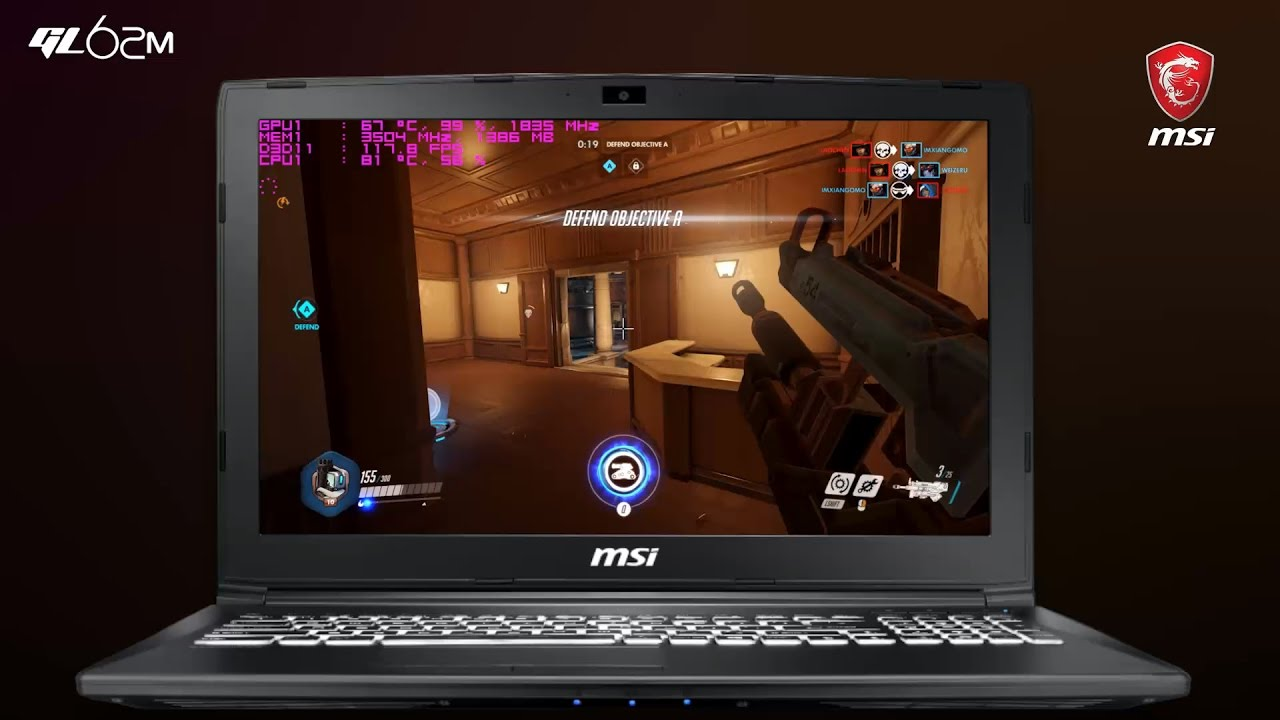 How Smooth Does it Run? Running BLIZZARD's popular title OVERWATCH on MSI GL62M 7RDX