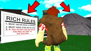RICH NEIGHBORHOOD Had RULES.. FOLLOW THEM Or Else.. (Roblox)