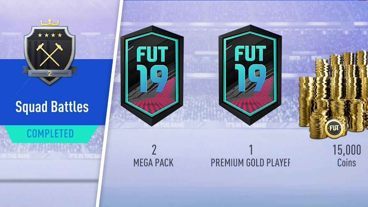 Fifa 19 Squad Battles Rewards elite 2 squad battles rewards! walkout! #fifa19 ultimate team