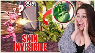 With this SKIN you become INVISIBLE! Better than A HACK - Fortnite ita