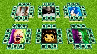 Minecraft PE : DO NOT CHOOSE THE WRONG END PORTAL! (Pennywise, Granny, Sonic, Ice Scream & Bendy)