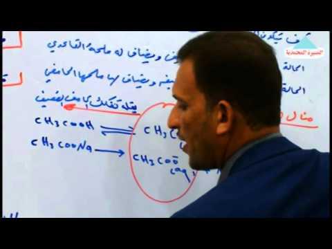 الاتزان الايوني/  الدرس السابع/ الاستاذ احمد محسن النجار
