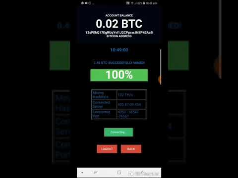 BITCOIN ANDROID MINING APP. Mine 0.05btc In 2 Minutes With An Android Phones