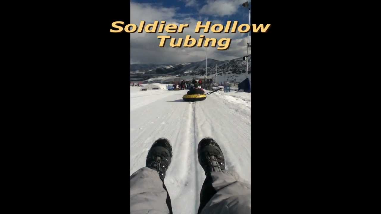 Soldier Hollow Snow Tubing Hill in Heber Valley, Utah
