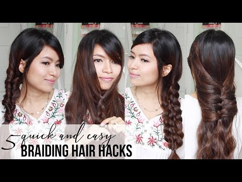BEST HAIR HACKS ♥ Quick & Easy Braided Hairstyles for Medium to Long Hair Tutorial