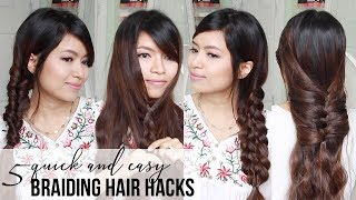 BEST 5 BRAIDING HAIR HACKS | Quick & Easy Hairstyle Tutorial for Medium to Long Hair