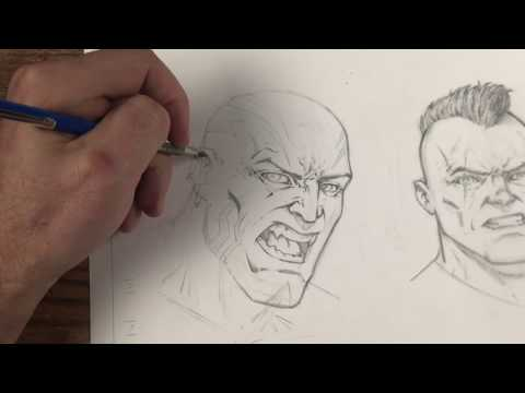 Drawing Comic Style Faces with Traditional Art Supplies