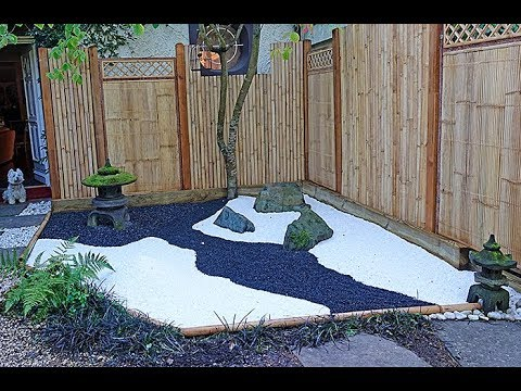 Un Mini Jardin A La Japonaise La Realisation Du Decor Youtube