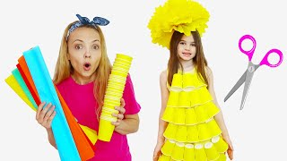 Polina makes a new Dress for Birthday party - Cool DIY Ideas