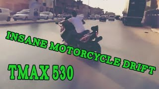 Video Insane Motorcycle Drift TMAX 530 download MP3, 3GP, MP4, WEBM, AVI, FLV September 2018