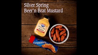 Croissant-Wrapped Mini Sausages with Silver Spring Beer'n Brat Mustard