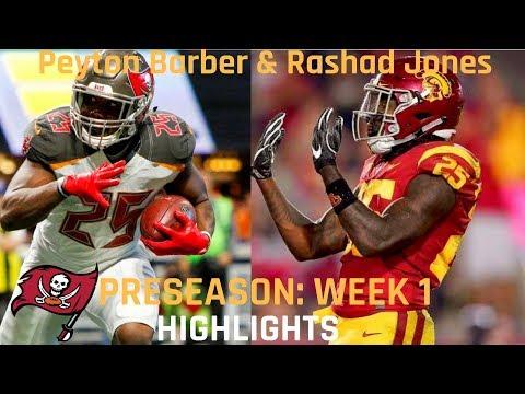 Peyton Barber vs Ronald Jones Preseason Week 1 Highlights | 08.09.2018