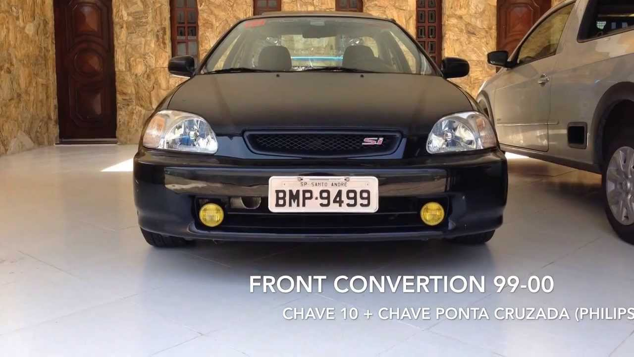 HONDACLUB How To Honda Civic Front Convertion 96 98 To