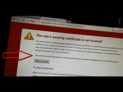 Chrome Security Error: The site's security certificate is not trusted. You cannot proceed anyway