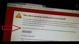 Chrome Security Error: The site
