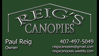 Reig's Canopies Assembly - Appliance yard installation