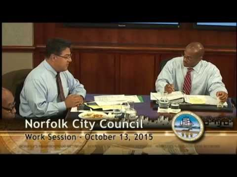 Work 10/13/15 Session - Norfolk City Council