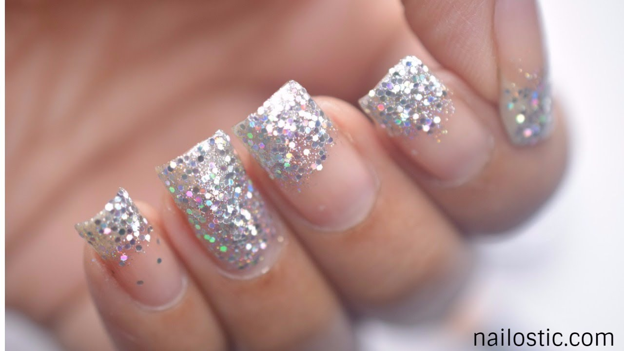 Glitter French Manicure Sparkly Tip