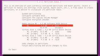 Installing Ubuntu on software raid 1