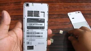 How to insert Simcard and SD card in Micromax Canvas Hue AQ5000